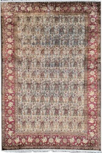 Kachan Silk Rug - Iran Circa 1880