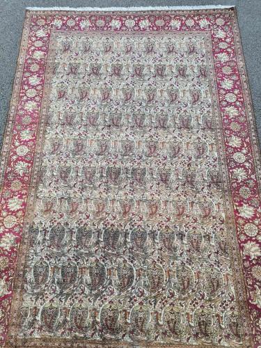 Kachan Silk Rug - Iran Circa 1880 - Tapestry & Carpet Style