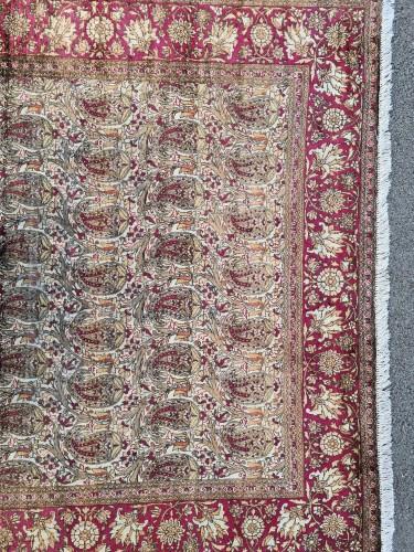 Tapestry & Carpet  - Kachan Silk Rug - Iran Circa 1880