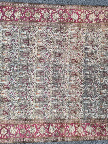 19th century - Kachan Silk Rug - Iran Circa 1880