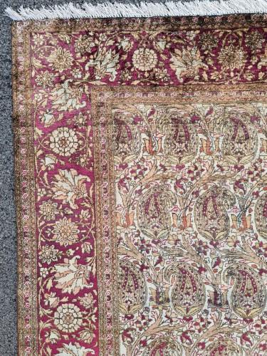 - Kachan Silk Rug - Iran Circa 1880