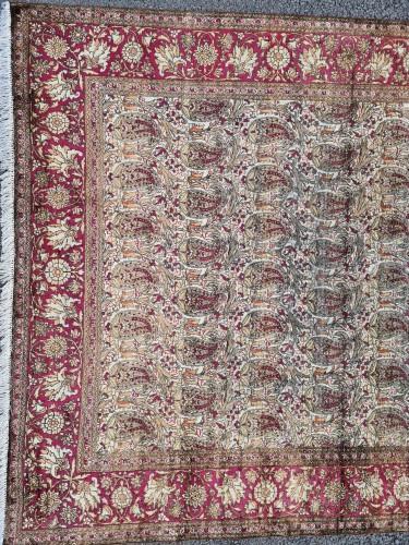 Antiquités - Kachan Silk Rug - Iran Circa 1880