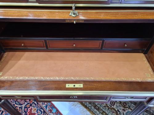 Furniture  - Small Mahogany and Gilt Bronze Sormani Cylinder Desk - France 19th
