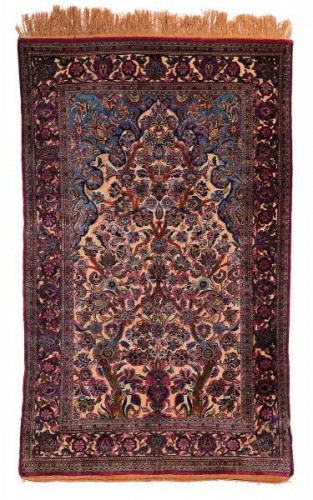 Fine Kashan Souf Silk - Iran 19th