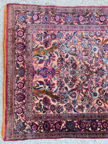Fine Kashan Souf Silk - Iran 19th - Tapestry & Carpet Style