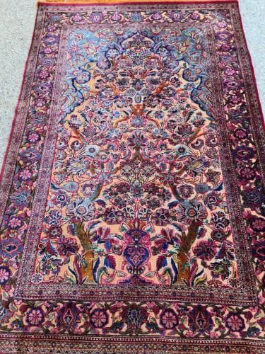 Fine Kashan Souf Silk - Iran 19th -