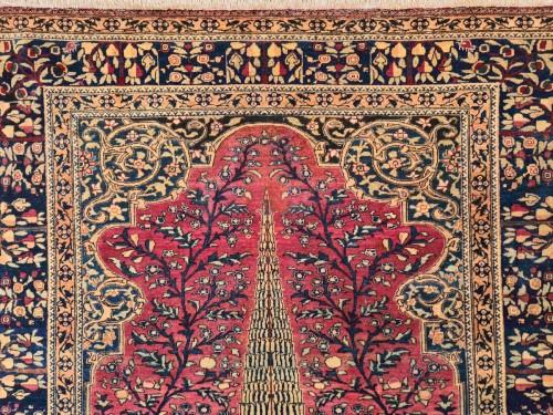 Kashan Mortachem Rug In Kork Wool Late 19th Century - Tapestry & Carpet Style