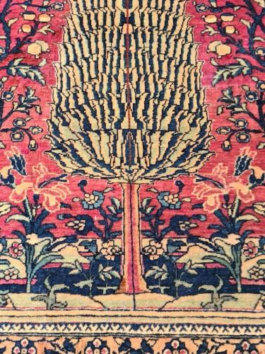19th century - Kashan Mortachem Rug In Kork Wool Late 19th Century