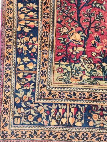 Kashan Mortachem Rug In Kork Wool Late 19th Century -