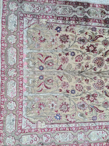 A late 19th century Kachan Soof Persian in Silk - Tapestry & Carpet Style