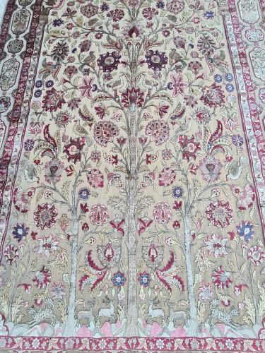 Tapestry & Carpet  - A late 19th century Kachan Soof Persian in Silk