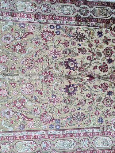 A late 19th century Kachan Soof Persian in Silk -