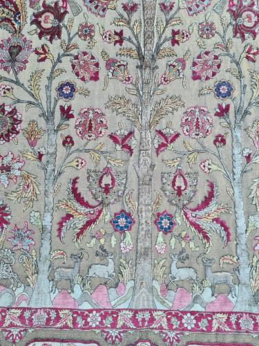 19th century - A late 19th century Kachan Soof Persian in Silk
