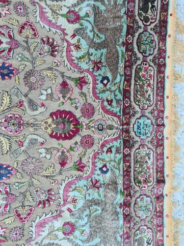 Antiquités - A late 19th century Kachan Soof Persian in Silk