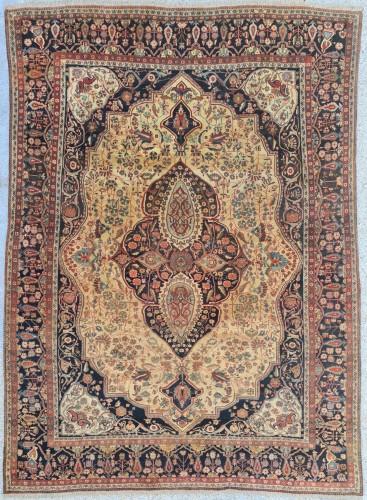 Kashan Mortachem Carpet - Iran 19th century