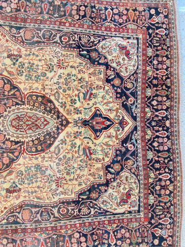 Kashan Mortachem Carpet - Iran 19th century - Tapestry & Carpet Style