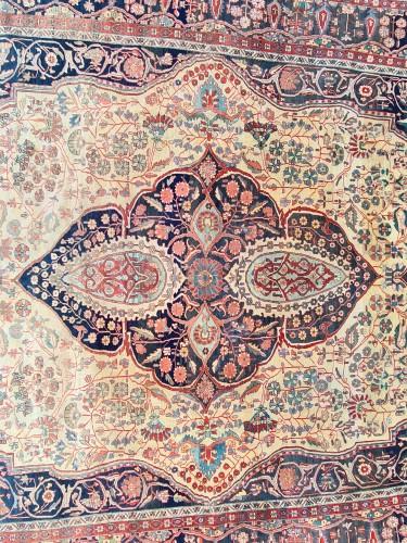 Tapestry & Carpet  - Kashan Mortachem Carpet - Iran 19th century
