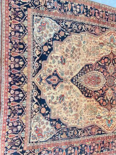 19th century - Kashan Mortachem Carpet - Iran 19th century