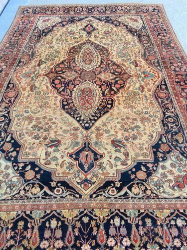 Kashan Mortachem Carpet - Iran 19th century -