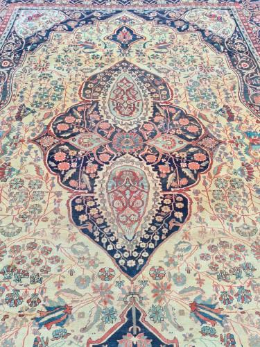 - Kashan Mortachem Carpet - Iran 19th century