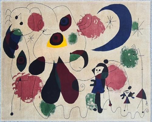 Handmade Rug Joan Miro 1893-1983
