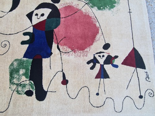 Handmade Rug Joan Miro 1893-1983 - Tapestry & Carpet Style