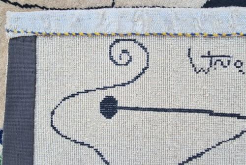 20th century - Handmade Rug Joan Miro 1893-1983