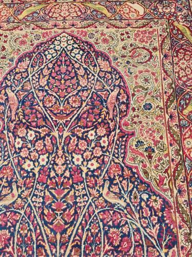 19th century - Kirman Rug Laver Kork Wool Iran Circa 1870