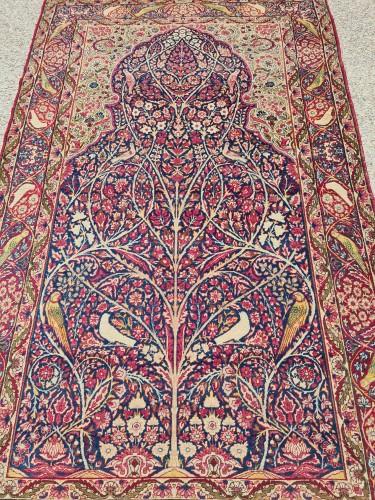 Kirman Rug Laver Kork Wool Iran Circa 1870 -