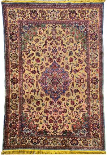 Kachan Soof Silk Silver Metal - Iran Late 19th Century