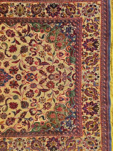 Kachan Soof Silk Silver Metal - Iran Late 19th Century - Tapestry & Carpet Style
