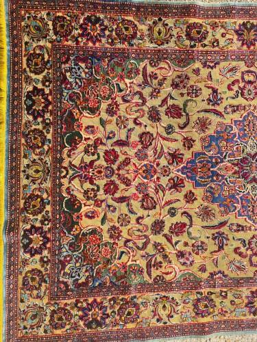 Kachan Soof Silk Silver Metal - Iran Late 19th Century -