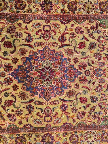 19th century - Kachan Soof Silk Silver Metal - Iran Late 19th Century