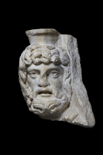 Relief fragment depicting Jupiter Serapis - Ancient Art Style