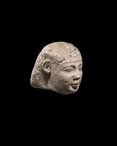 Head of a Pharaoh or a Sphinx - Ancient Art Style
