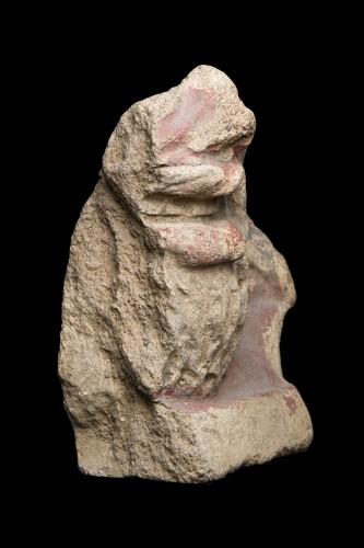 Ancient Art  - Fragment of an antefix depicting a bearded man, Estruscan