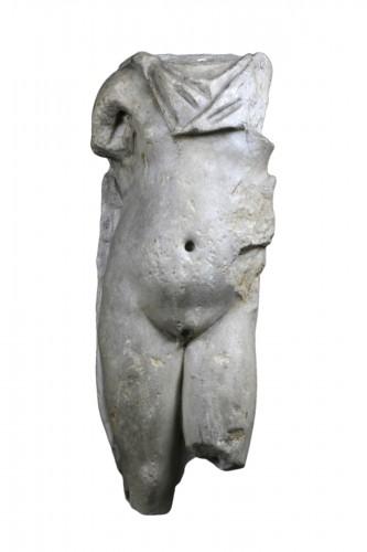 Marble torso of a man, Roman