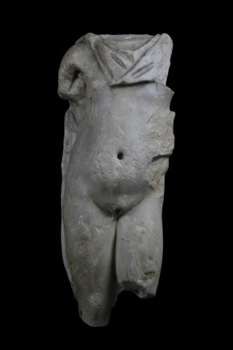 BC to 10th century - Marble torso of a man, Roman