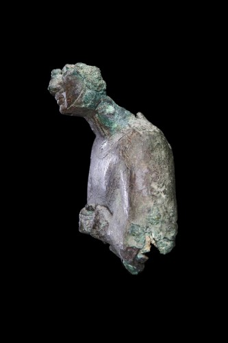 BC to 10th century - Fragment of a bronze Osiris statue, Egyptian