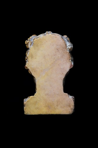 Ancient Art  - Marble herm pilar depicting a young maenad, Roman