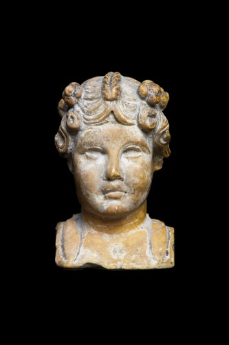 BC to 10th century - Marble herm pilar depicting a young maenad, Roman