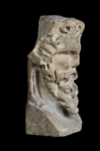 Marble herm pilar depicting Bacchus, Roman - Ancient Art Style