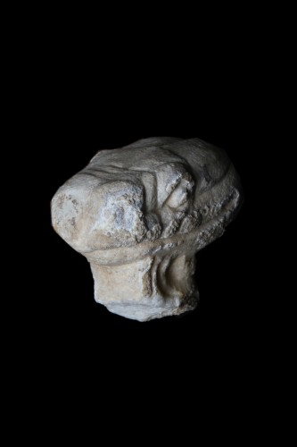 Marble head of a Snake, Roman - Ancient Art Style