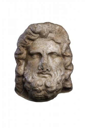 Marble head of Jupiter, Roman