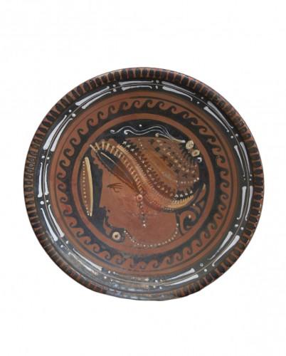 Apulian Woman's Head Plate, Greek