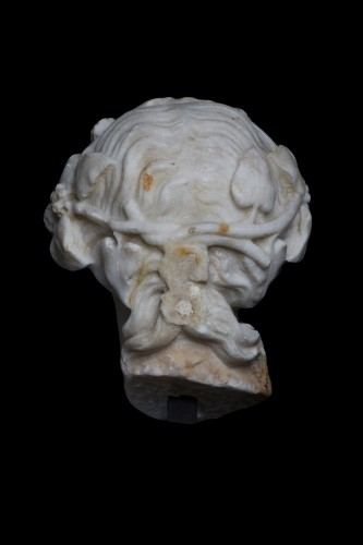 BC to 10th century - Marble head of Dionysos, Roman