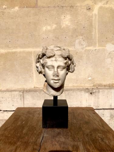 Marble head of Dionysos, Roman -