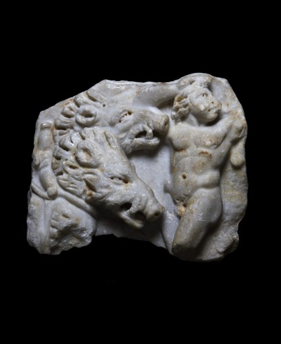 Marble relief with the myth of Adonis and Aphrodite, Roman - Ancient Art Style