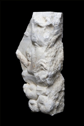 Marble Relief Fragment with a Satyr, Roman - Ancient Art Style