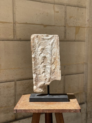 BC to 10th century - Marble fragment of a Pilaster, Roman
